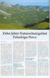 Zehn Jahre Naturschutzgebiet Faludriga-Nova (2.6 MB ) - Vorarlberg