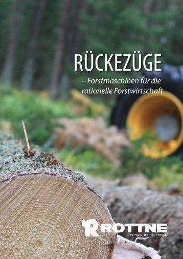 – Forstmaschinen für die rationelle Forstwirtschaft - Rottne