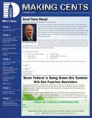 Summer 2013 Newsletter - Dover Federal Credit Union