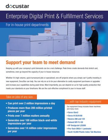 Enterprise Digital Print & Fulfillment Services (In-House ... - Docustar