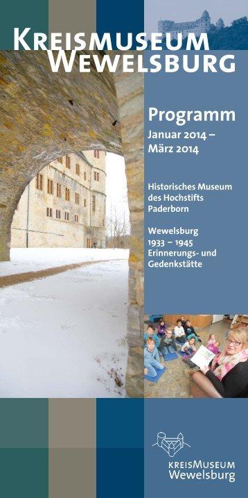 Veranstaltungen Januar bis März 2014 - Kreismuseum Wewelsburg
