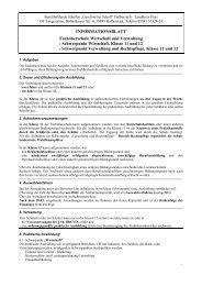 Wirtschaft und Verwaltung - Berufsbildende Schulen