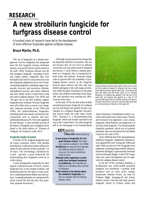 A new Strobilurin fungicide for turfgrass disease control