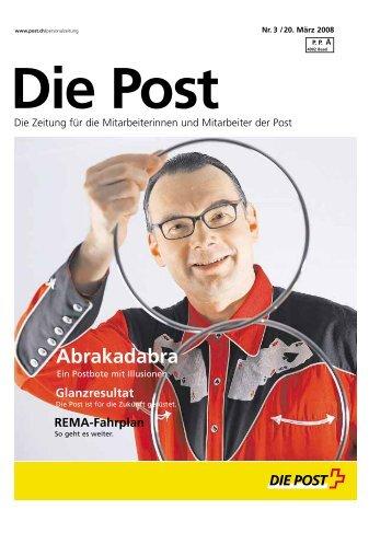 Die Post» - Personalzeitung - Poste CH