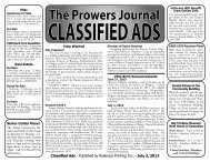 The Prowers Journal CLASSIFIED ADS