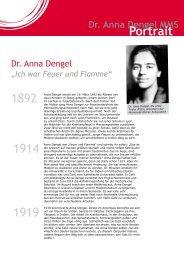 Portrait Dr. Anna Dengel - Jugend Eine Welt