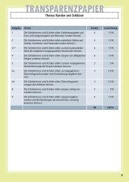 Transparenzpapier Thema: Runden und Schätzen