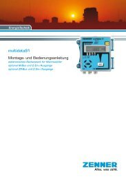 Montageanleitung multidata S1 - Zenner