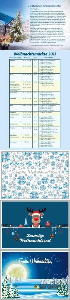 Im Stundentakt Richtung Weihnachten - WestfalenBahn