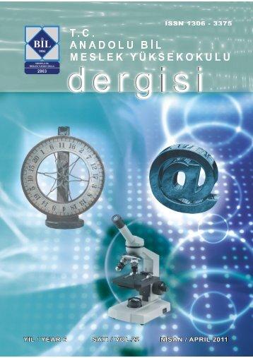 Bilimsel Dergi Sayı 22 - İstanbul Aydın Üniversitesi