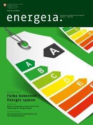 Farbe bekennen – Energie sparen - AEE SUISSE