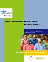 in Public Service AdvAncing diverSitY And incluSion - NUF.org