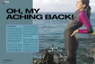 oh, my aching back! - Divers Alert Network