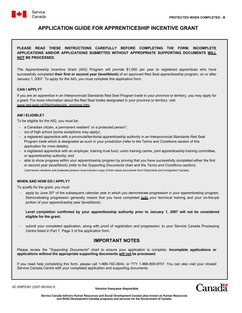 Apprenticeship Incentive Grant Local 1460 Alberta Millwrights