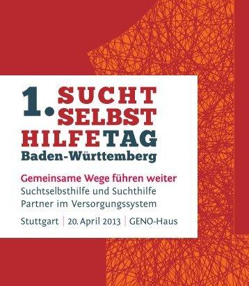 Programm - 1. Suchtselbsthilfetag Baden-Württemberg