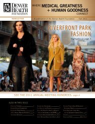 RIVERFRONT PARK FASHION - Denver Health Foundation > Home