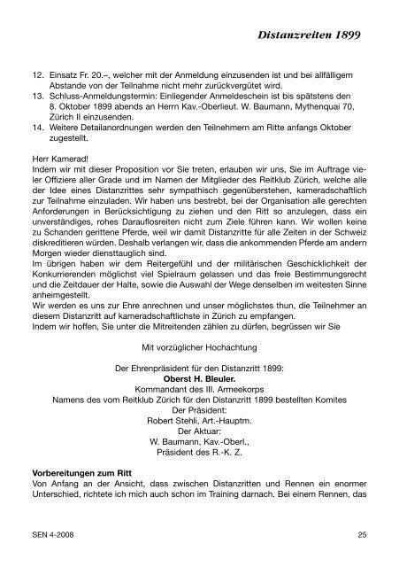 Nr. 4 | 2008 - bei swissendurance.ch!