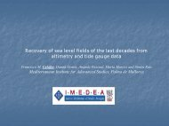 Recovery of sea level fields of the last decades from altimetry and ...