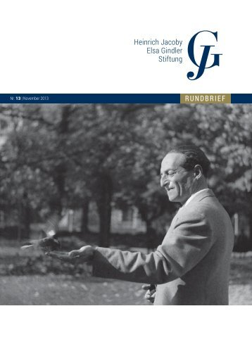 Rundbrief Nr. 13 - Heinrich Jacoby - Elsa Gindler - Stiftung