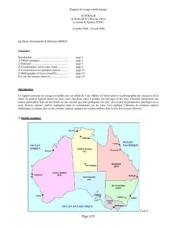 23 pages. Cartes, renseignements pratiques, description des ... - LPO