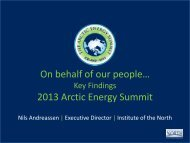 PowerPoint - 2013 Arctic Energy Summit - Institute of the North