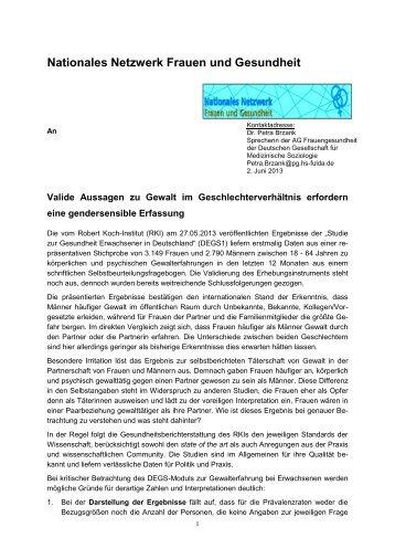 Stellungnahme DEGS.pdf - Neue Wege für Jungs