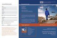 Folder/Flyer Systemische Fachtagung 2013