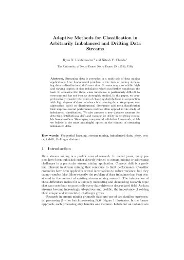 Adaptive Methods for Classification in Arbitrarily Imbalanced and ...