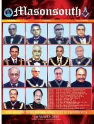 January 2012 - Regional Grand Lodge of Southern India