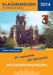 Flyer Schloß Altenhausen für Klassen