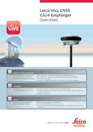 Leica Viva GNSS GS14 Empfänger Datenblatt - Leica Geosystems