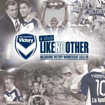 MELBOURNE VICTORY MEMBERSHIP 2013/14