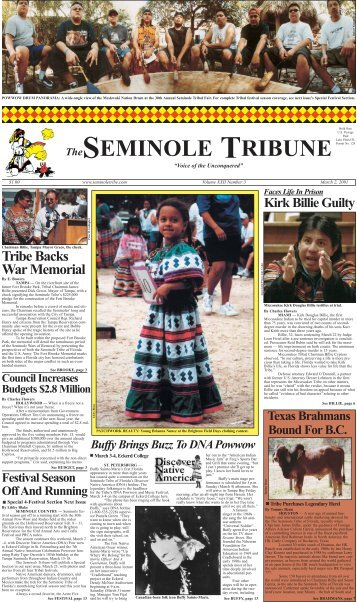 March 2 - Seminole Tribe of Florida