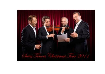 Flyer Swiss Tenors Christmas Tour 2011