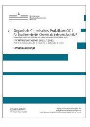 Organisch-Chemisches Praktikum OC-I - Westfälische Wilhelms ...