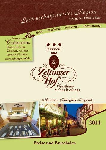 Preise & Pauschalen - Zeltinger Hof
