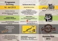 PDF-Flyer - Sport Oase