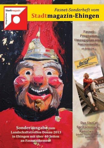 Fasnet-Sonderheft vom - Stadtmagazin Ehingen