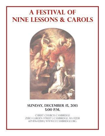 A Festival of Nine Lessons & Carols - Christ Church Cambridge