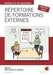 Répertoire de formations externes pour les ... - Ville de Genève
