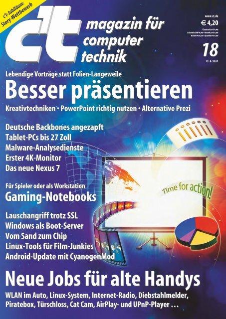 c't magazin für computer technik 18/2013 - since