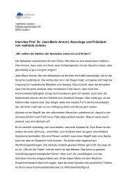 """""""aphasie suisse"""" wird 30 und feiert das ganze Jahr - MyHandicap"""
