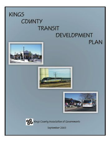 Transit Development Plan - Kings County Association of Governments