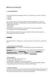 BEWEGUNGSAPPARAT I. ALLGEMEINES