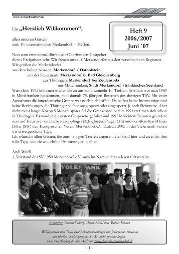 Heft 9 2006/2007 Juni `07 - des SV 1950 Merkendorf e.V.