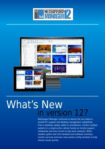 What's New - NetSupport Manager