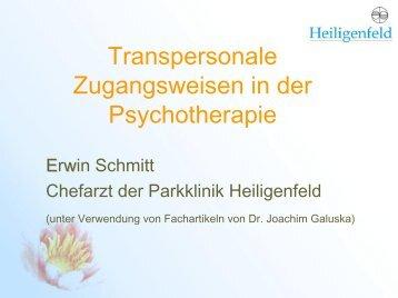 Transpersonale Zugangsweisen in der Psychotherapie