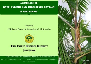 RAIN FOREST RESEARCH INSTITUTE - Indian Council of Forestry ...