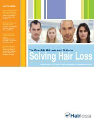 The Complete HairLoss.com Guide to - Hair Loss Information Center