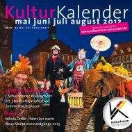 KulturKalender KulturKalender - Kulturforum Schorndorf